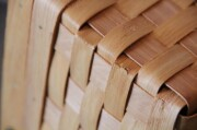水杉のワンハンドル蓋付きバスケット